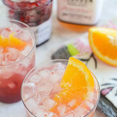 Raspberry Bourbon Smash
