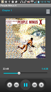 People Minus X, Audio book - screenshot