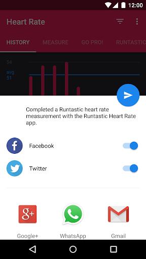 Runtastic Heart Rate Monitor & Pulse Checker screenshot 4