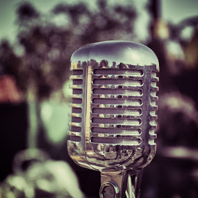 Rock & Roll by Damian Allison - Artistic Objects Musical Instruments ( old, microphone, oldschool, retro, rock and roll,  )