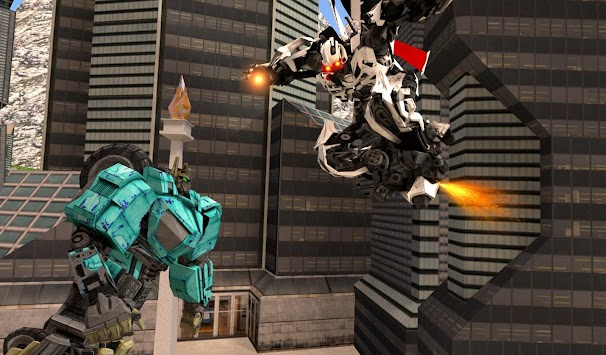 Robots War In City APK screenshot thumbnail 3