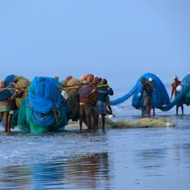 Fishermen after job done by Saurav Dey - People Professional People ( work, fishermen, sea, vibrant, people )