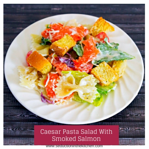 Caesar Pasta Salad With Smoked Salmon