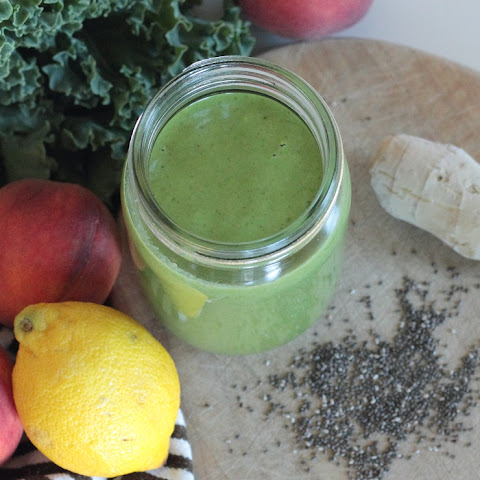 Ginger Peach & Kale Power Smoothie
