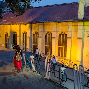 WALKING DOWN THE STREET by Debasish Chatterjee - City,  Street & Park  Street Scenes