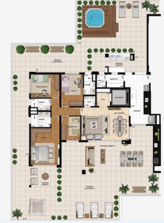 Planta Garden - 351 m²