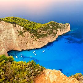 Shipwreck Beach,Zakynthos by Stanley P. - Landscapes Travel ( travel )