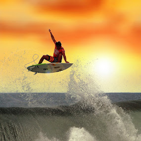 Sunset Levatation by Alit  Apriyana - Sports & Fitness Surfing