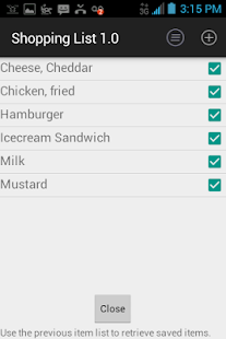 rShop: Shopping List - screenshot