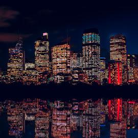 by Jim Cunningham - City,  Street & Park  Night