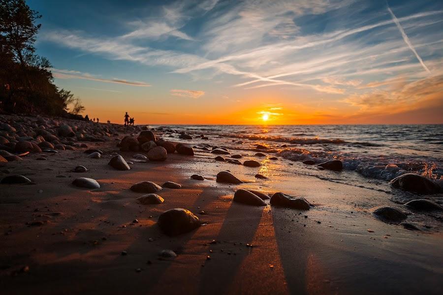 Rozewie, Poland by Paweł Mielko - Landscapes Beaches ( sealandscape, sunrises, scape, polska, seascapes, sea, seascape, beach, sun, baltic, poland, jastrzębia góra, beaches, baltic sea, sunset, sunsets, rozewie, sunrise )