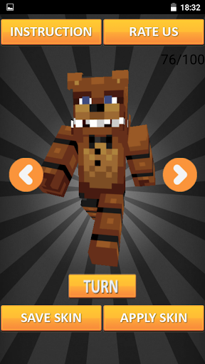 Skins FNAF for Minecraft PE For PC