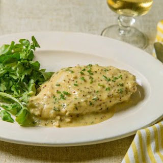 Velvet Chicken Breast With Mustard Sauce