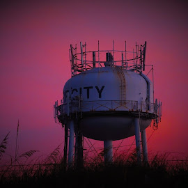 Water tank early morning by Mark Perkins - City,  Street & Park  Skylines