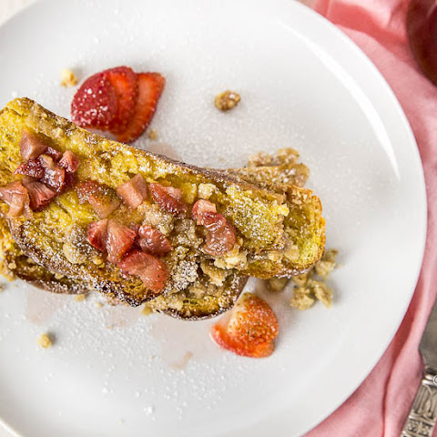 Baked Challah French Toast with Salted Caramel Irish Cream & Strawberry Maple Syrup