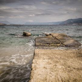 Rocks by Maurizio Tuccio - Landscapes Beaches ( clouds, sky, colors, fall, movement, sea, seascape, rocks, sicily )