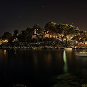 Skiathos by Paschalis Angelopoulos - Landscapes Starscapes ( port, full moon, night, skiathos, island,  )