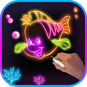 Download Glow Drawing Fish For PC Windows and Mac