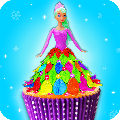 Edible Doll Cupcake Maker! Bake Cupcakes with Chef (game)