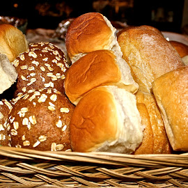 The bread basket. by Peter DiMarco - Food & Drink Cooking & Baking ( foods, bread, food, basket, rolls )