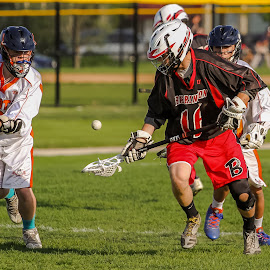 JV Lacrosse action by Gary Duncan - Sports & Fitness Lacrosse ( jv, high school, varsity, sports, lacrosse )