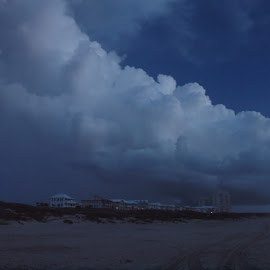 Pre-dawn on South Padre Island by Chuck Cornell - Landscapes Caves & Formations (  )