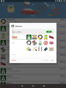 MyFuelLog2 - Car Maintenance APK screenshot thumbnail 15