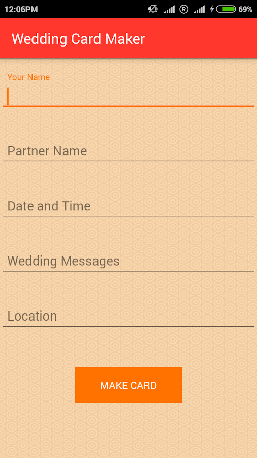 Wedding Card Screenshot