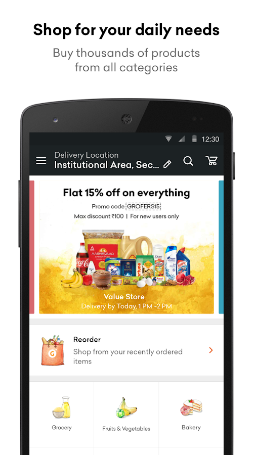 Grofers - Online Grocery Screenshot 0