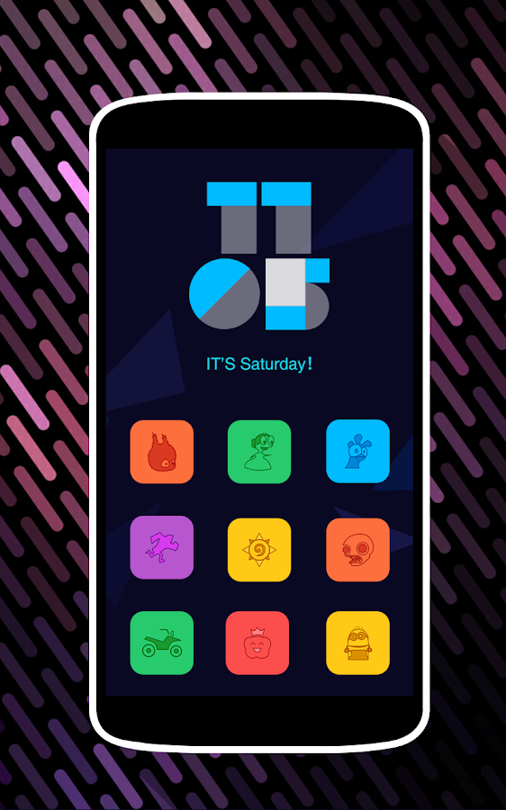 Colorful Icons Pack & Theme Screenshot 1