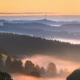 Layers by Lars Urbas - Landscapes Sunsets & Sunrises ( nature, fog, mood, sunrise, light )