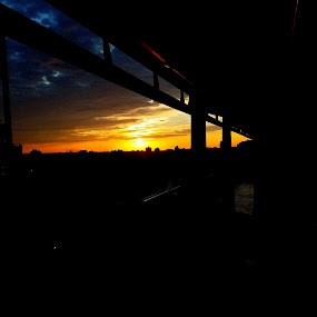 Sunrise from underneath the 59th Street Bridge by Chris Gray - Buildings & Architecture Bridges & Suspended Structures ( queensboro, sunrise, bridge, nyc )