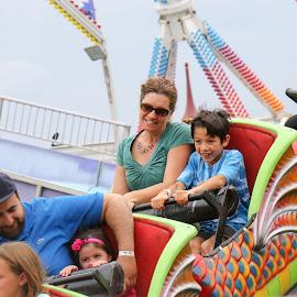 Fun Fair Roller coaster fun by Teresa Cerbolles - City,  Street & Park  Amusement Parks (  )