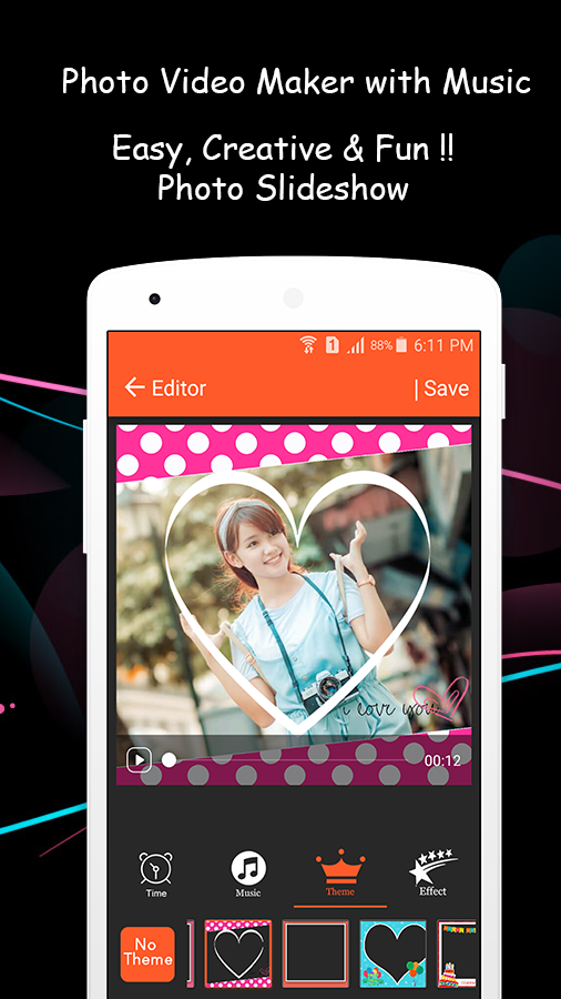 Photo Video Maker with Music — приложение на Android
