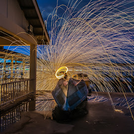 KSD Jetty by Lim Keng - Abstract Light Painting