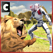 Game Flying Robot VS Wild Animals apk for kindle fire
