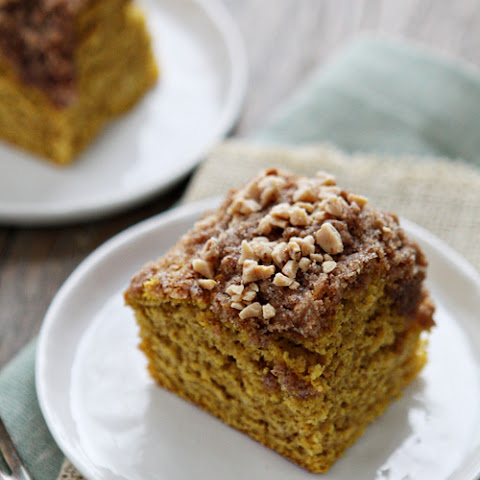 Pumpkin Coffee Cake with Toffee Streusal