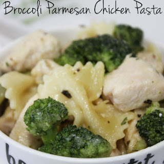 One Skillet Broccoli Parmesan Chicken with Bow Tie Pasta