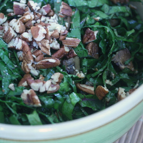 Kale Salad with Cremini Mushrooms and Lemon Vinaigrette
