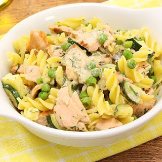 Salmon Pasta with Peas