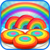 Free Download DIY Rainbow Cookies Maker Chef APK for Samsung
