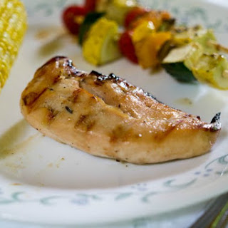 Grilled Honey Bourbon Glazed Chicken