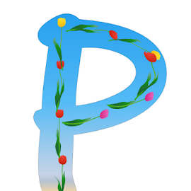 ALPHABET - P by Dipali S - Typography Single Letters ( graphic, ornate, decorative, illustration, type, decor, calligraphy, quote, inscription, place, note, classic, typographic, template, element, icon, text, creative, decoration, letter, font, art, advertisement, calligraphic, message, sign, frame, background, artistic, typography, design )