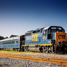 Hamlet Depot by JT N April Locklear - Transportation Trains ( csx, railroad, depot, train, hamlet,  )