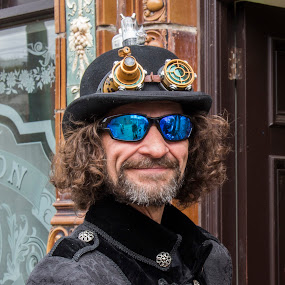 Steampunk by Corin Spinks - People Portraits of Men ( male, sunglasses, steampunk, portrait, hat,  )