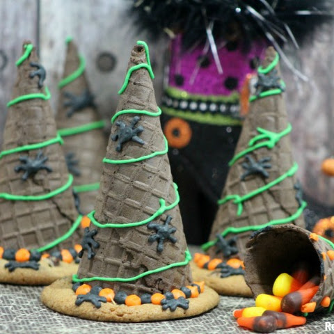 Halloween Witch Hats Cookies