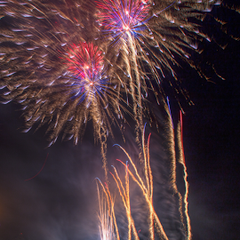 Bursting in Air by Tom Weisbrook - Abstract Fire & Fireworks ( buffalo bayou, tinsley park, freedom over texas, houston, texas, bursting, fireworks, july 4th, pyrotechnics, independence day )