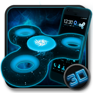 Fidget Spinner Space 3D Theme For PC