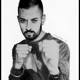 garry sandhu sketch by Er Mohit Bangar - Drawing All Drawing ( garry sandhu sketch, garry sandhu pencil sketch, mohit arts, garry sketch, garry sandhu )