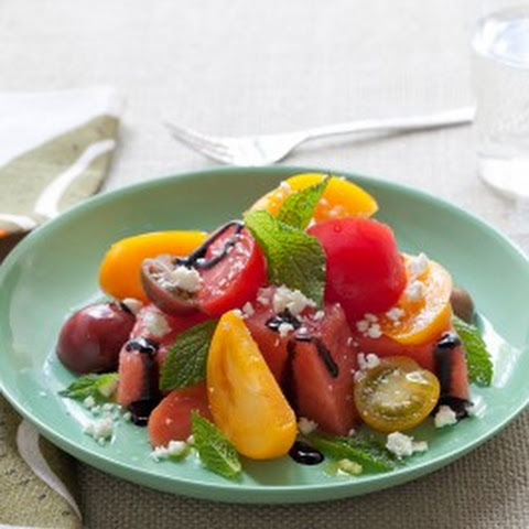 Refreshing Watermelon and Heirloom Tomato Salad